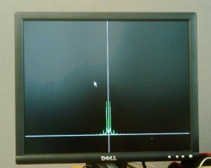 pre alpha version of our spectrum analyzer display