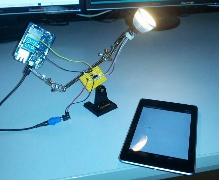 Dimming a high power led wirelessly from an Android device